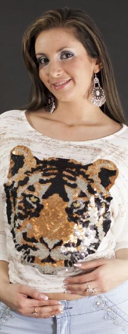 Blusa Casual Estampado Tigre
