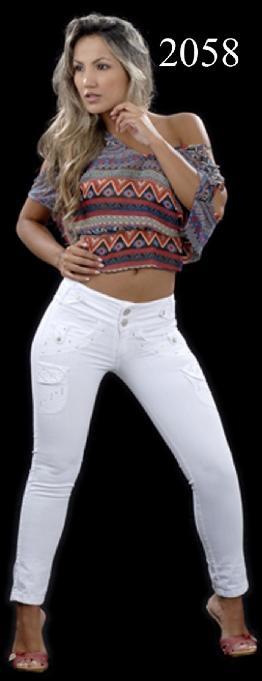 Jean Color Blanco Promoción