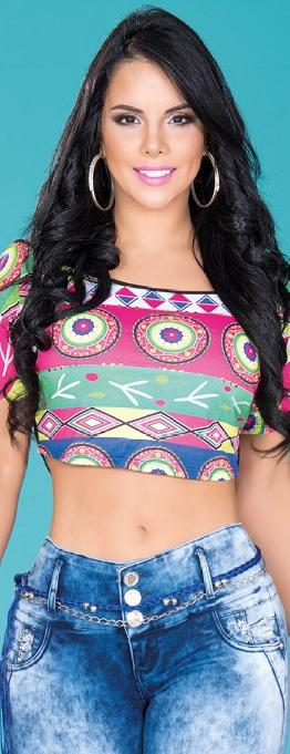 Blusa sexy dama Colombiana