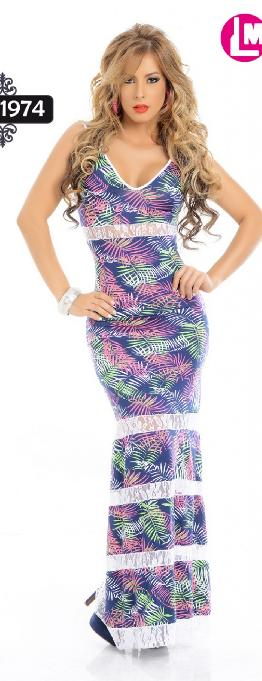 Vestido Largo Cereza