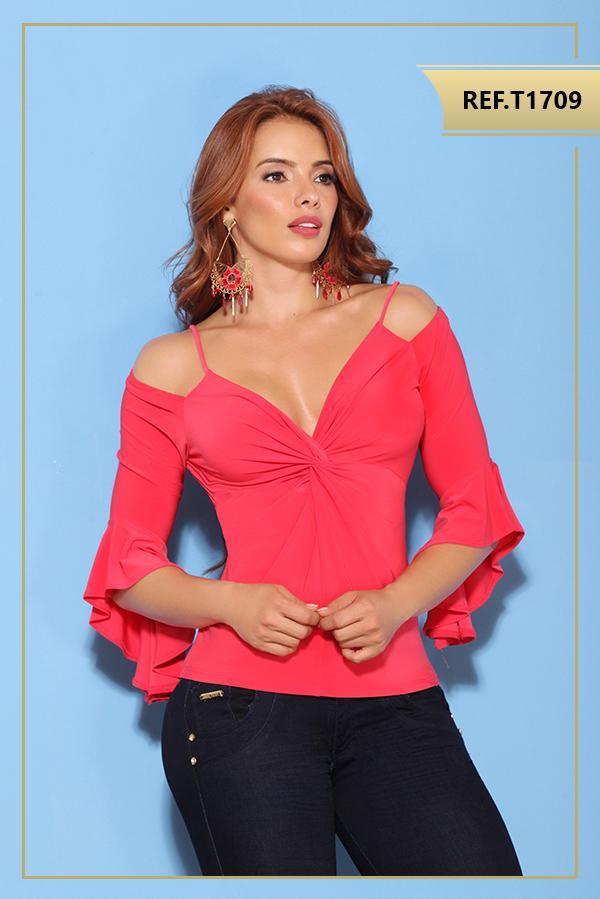 Blusa, colombiana de moda manga corta