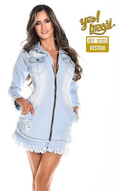 Vestido Colombiano en Jean