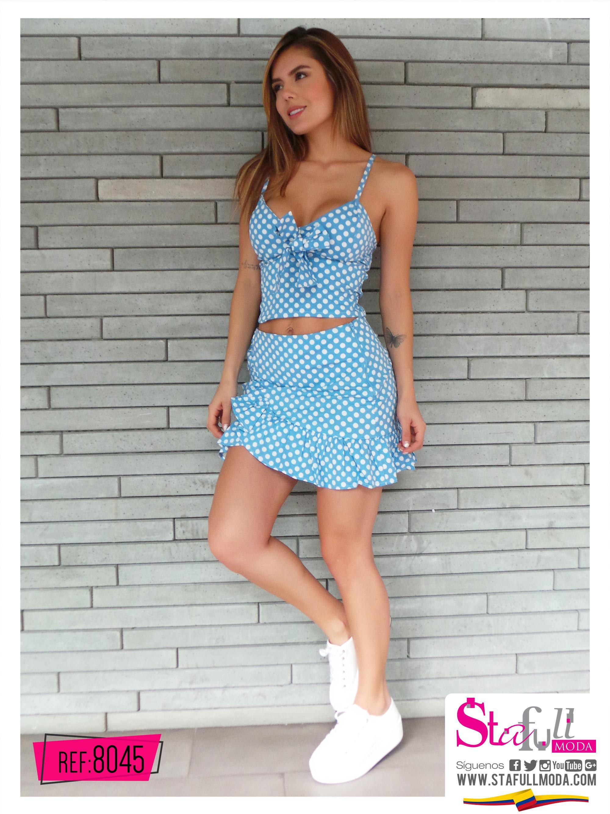 Conjunto Falda Corta moda Verano