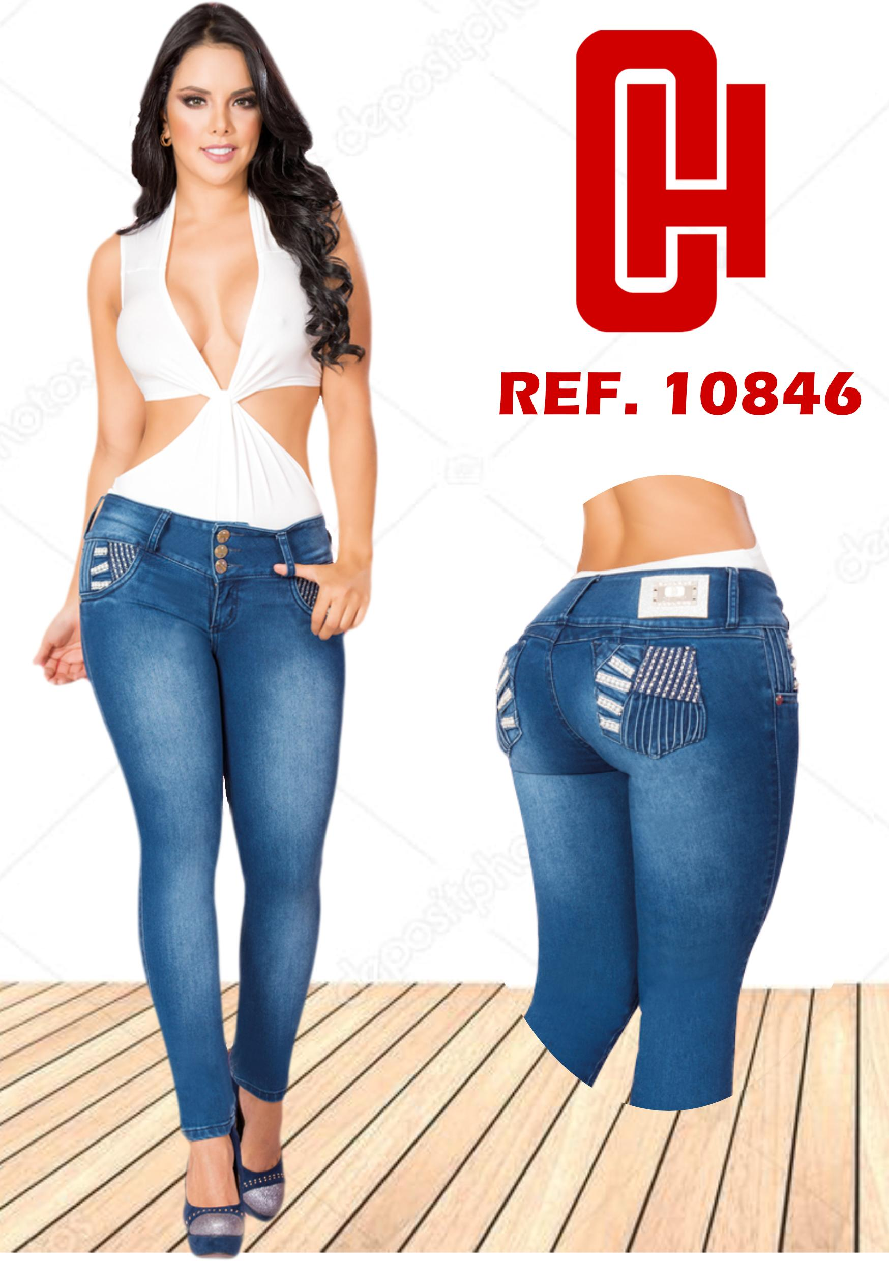 COLOMBIAN PUSH UP JEAN  WITH POCKETS