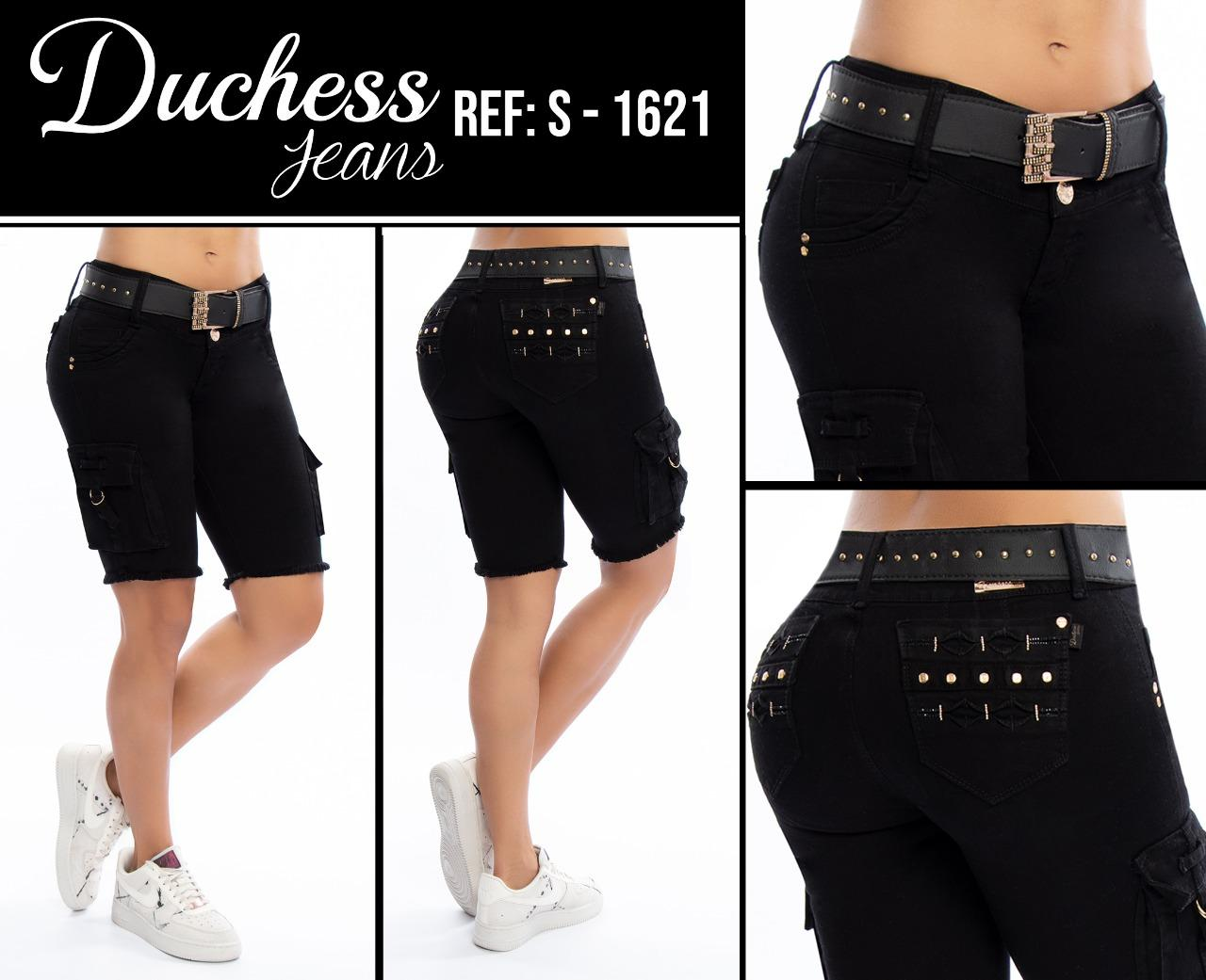 Jean Capri Levanta Colombian Tail Fashion Brand Duchess Color Black