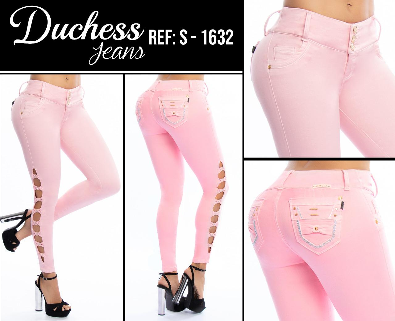 Pink Lady Jeans, Original Colombian Tail Lift, decorative openings on the lower side of the leg