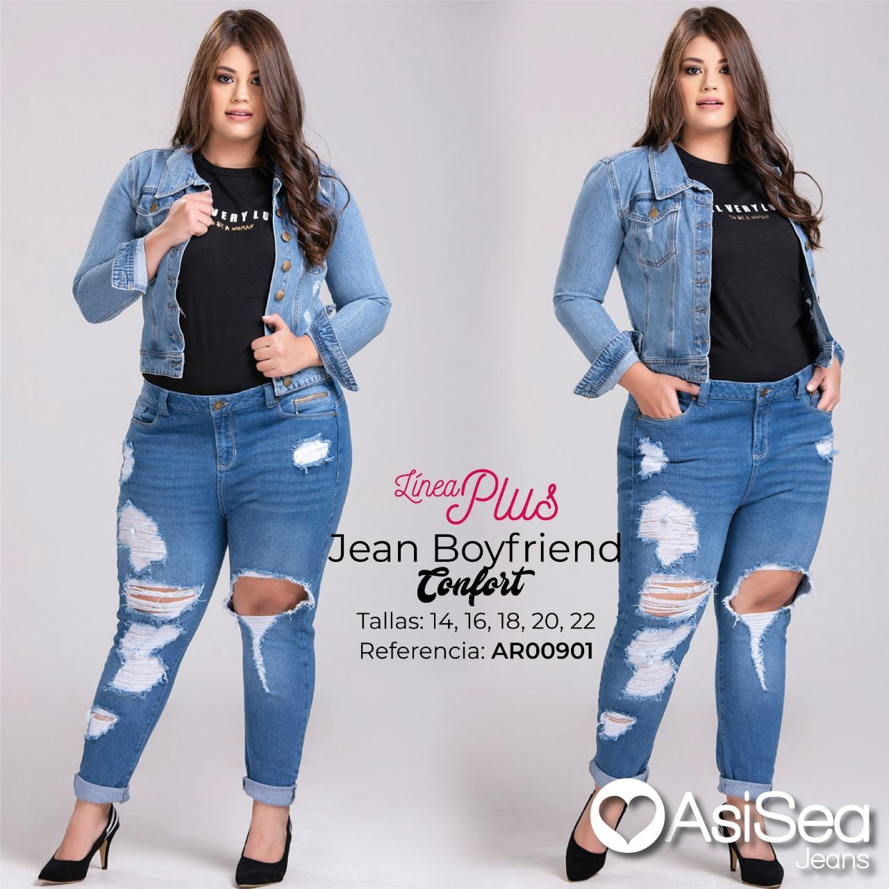 Colombian BoyFriend Style Jeans with Broken, Special Sizes