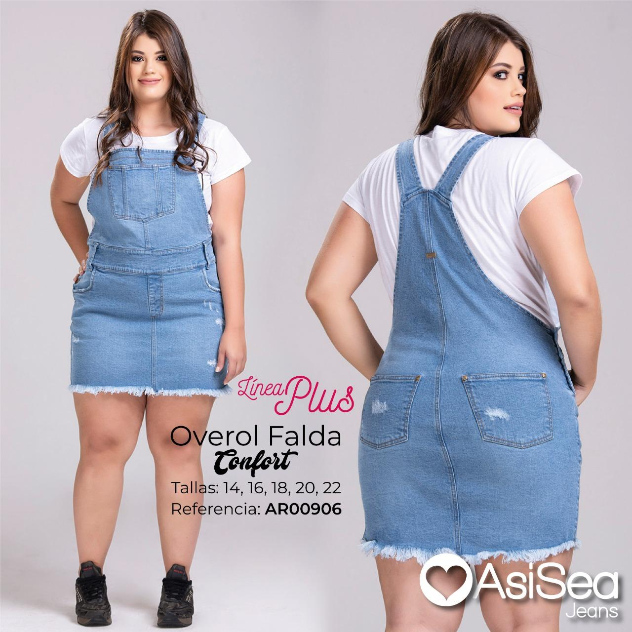 Overalls in skirt for Lady Special Sizes, made in Colombia and decorated by Destroyer