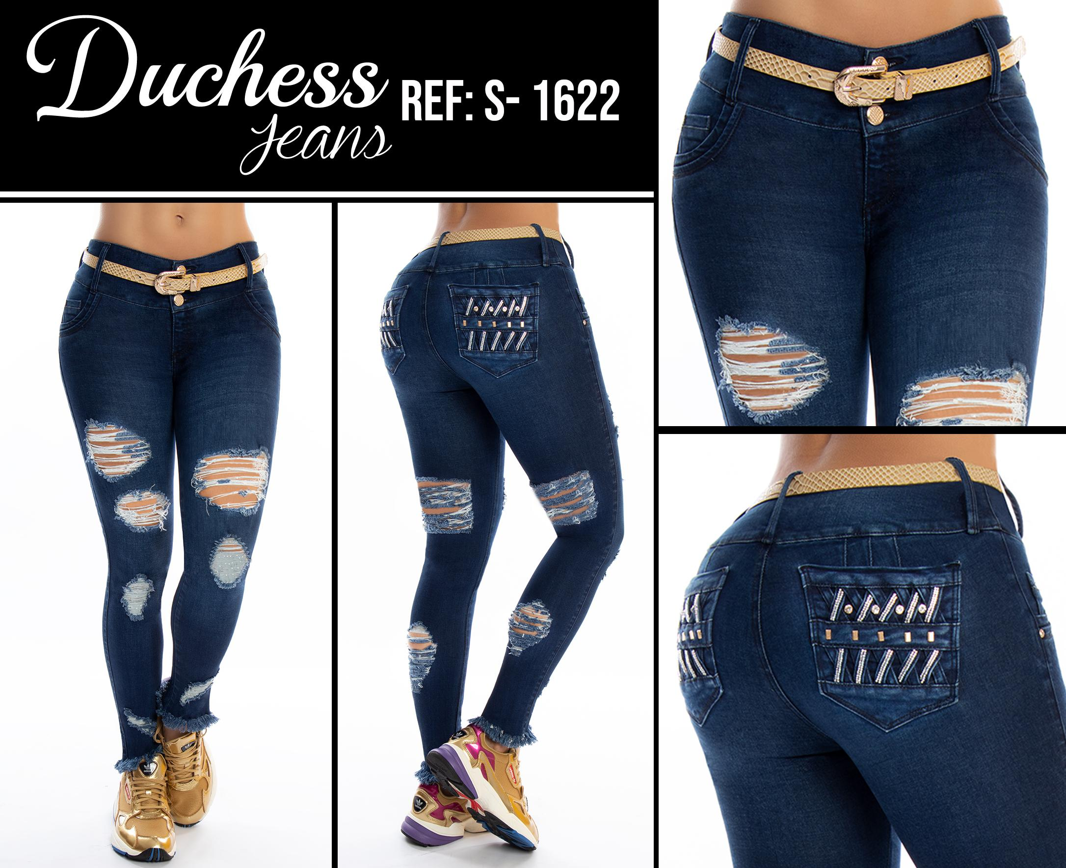Jean Vaquero de Dama with Push Up Effect and Fashion Destroyer in the boots, front and back