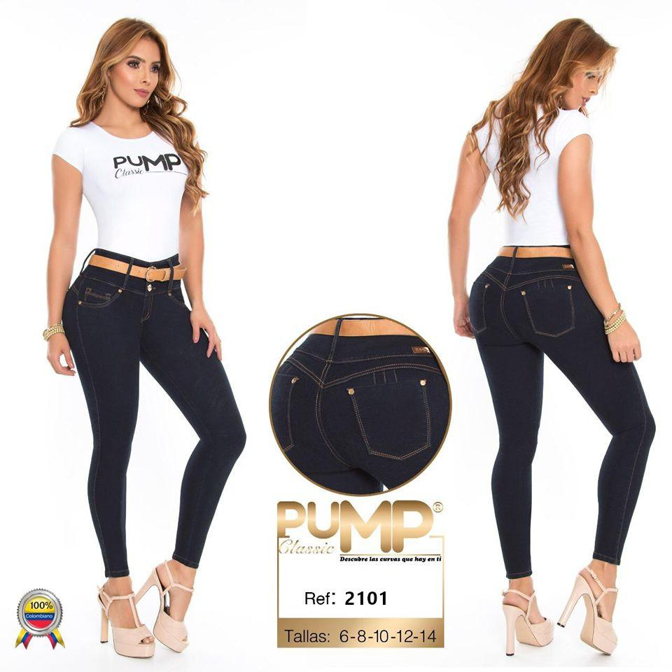 Jean Vaquero Colombian Lady Wide Waist Control Waist and Effect Lift Tail
