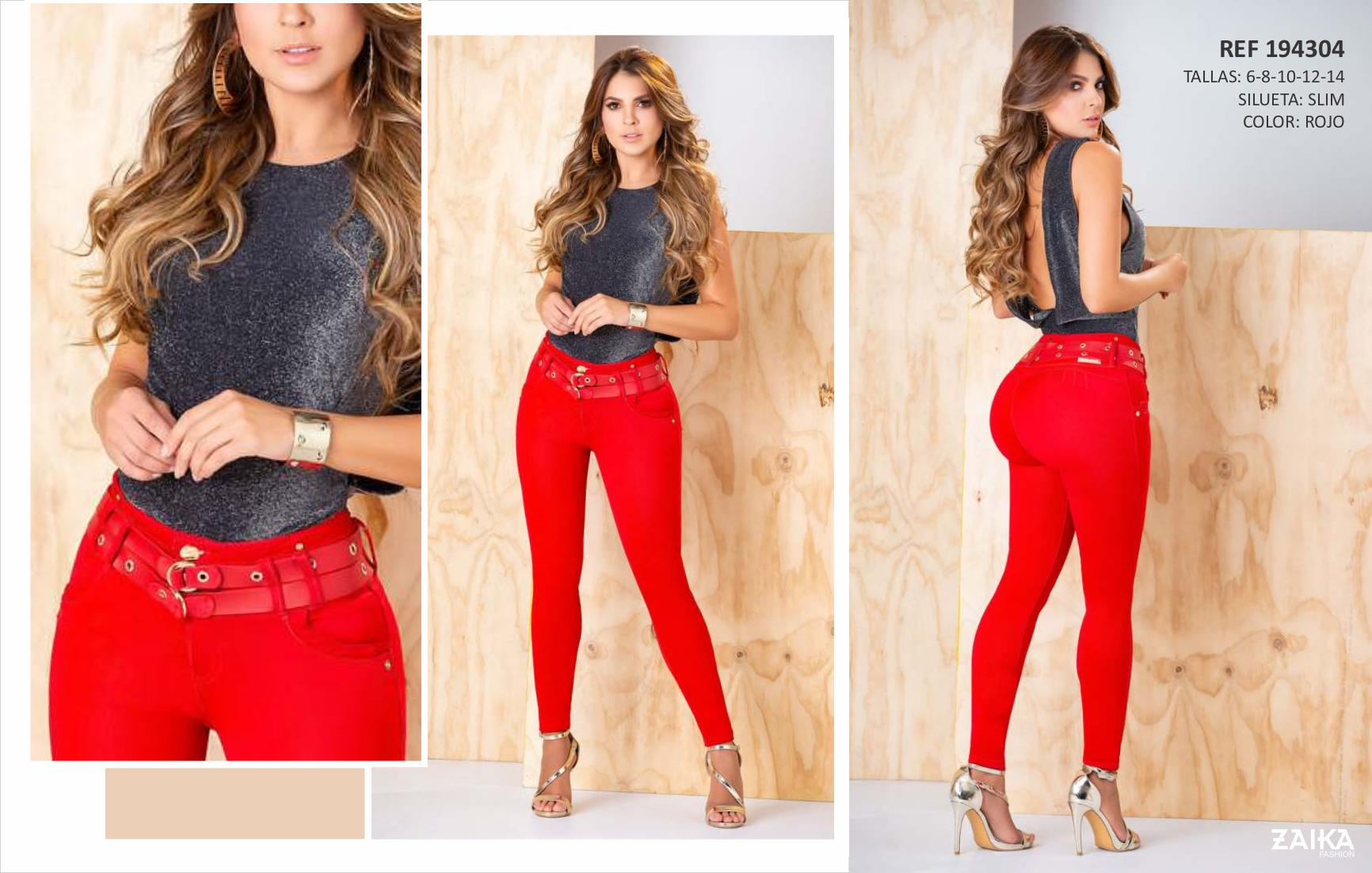 Jean Colombiano pants for lady with Exclusive Design Derriere