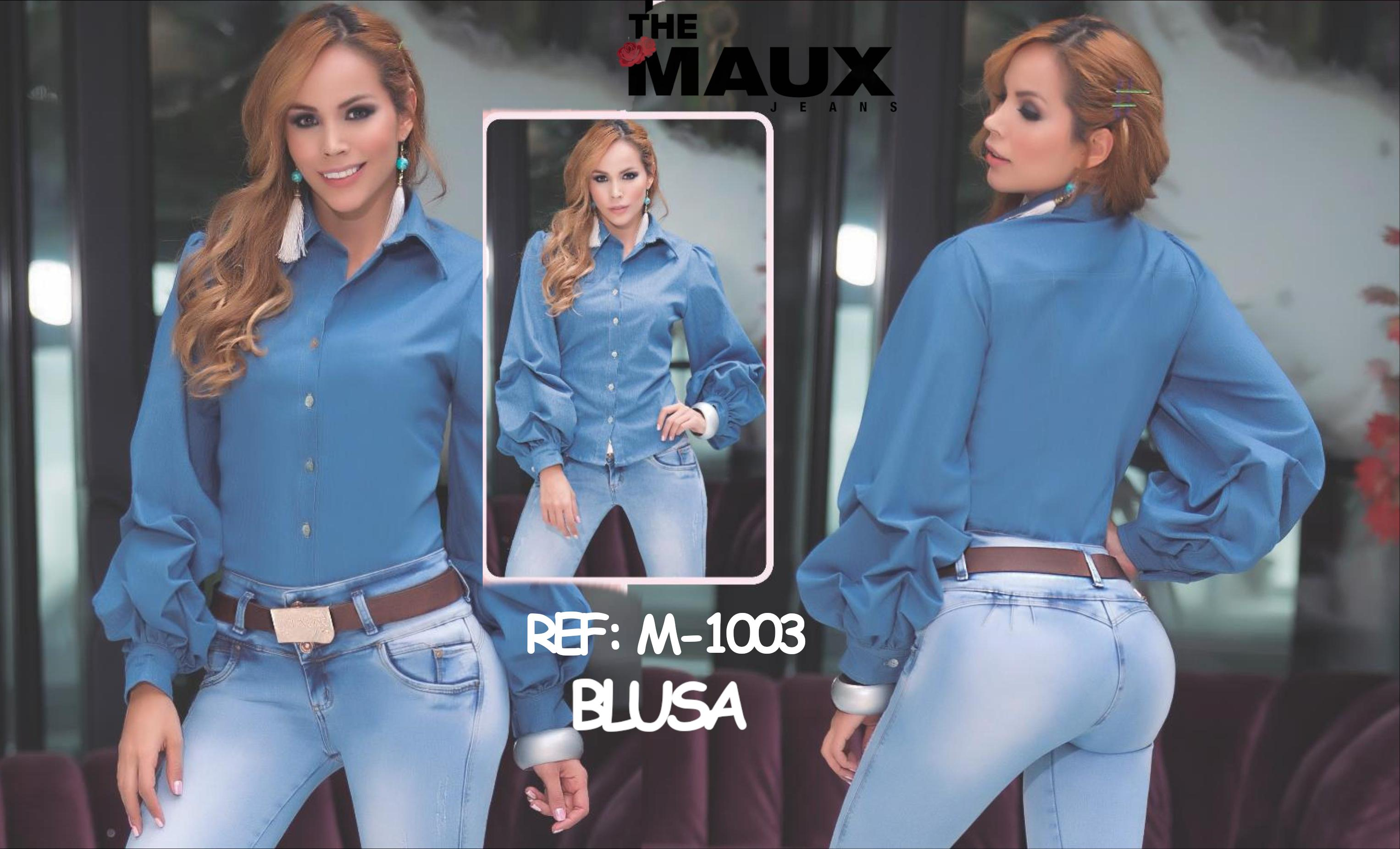 Lady Blouse with Long Sleeves and Buttons in Front