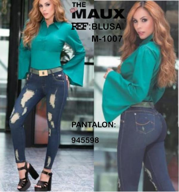 Colombian blouse with long and wide sleeve fashion