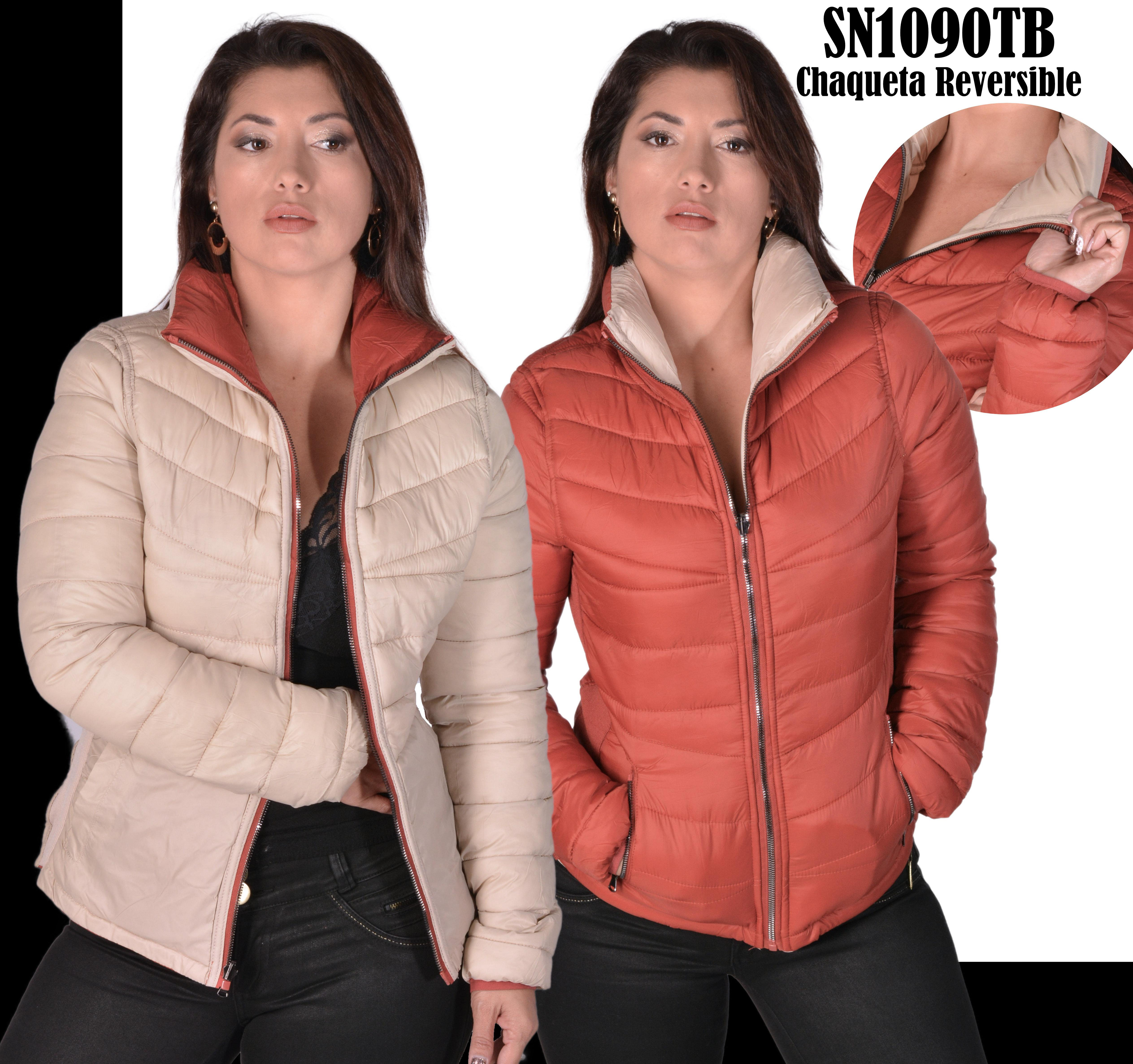 Two Color Reversible jacket with high collar super warm