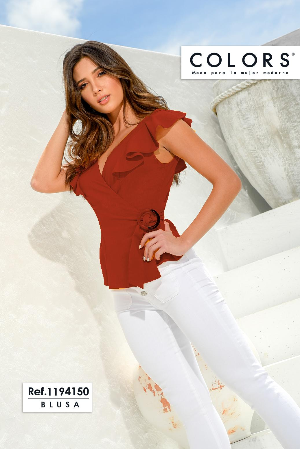 Short sleeves blouse Colombian with lateral Cross Decorated