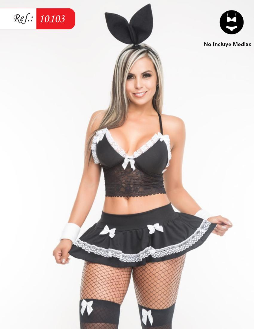 Sexy Lingerie Bunny costume in Black.