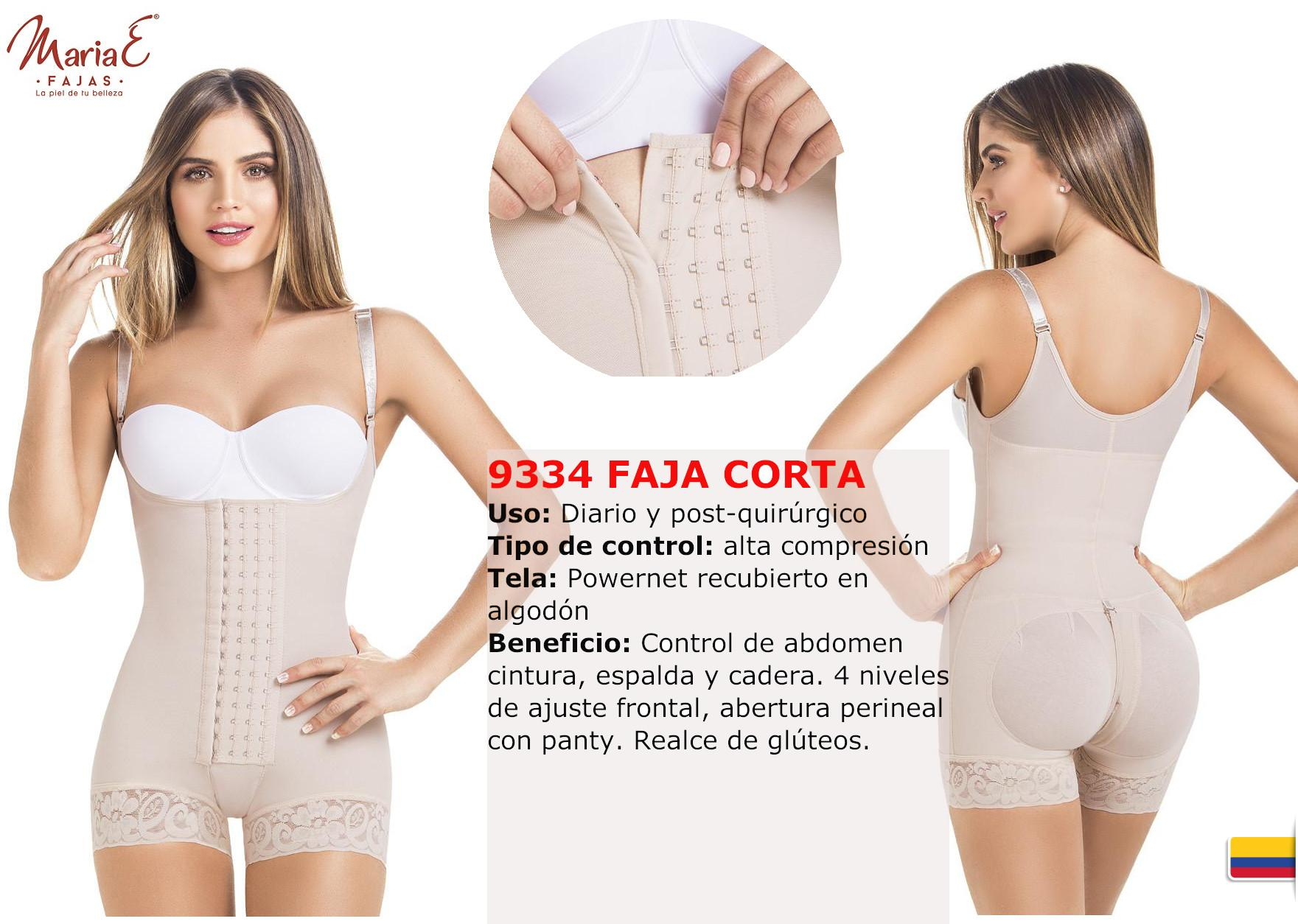 Colombian Girdles Short type  with straps and 4 levels of adjustment