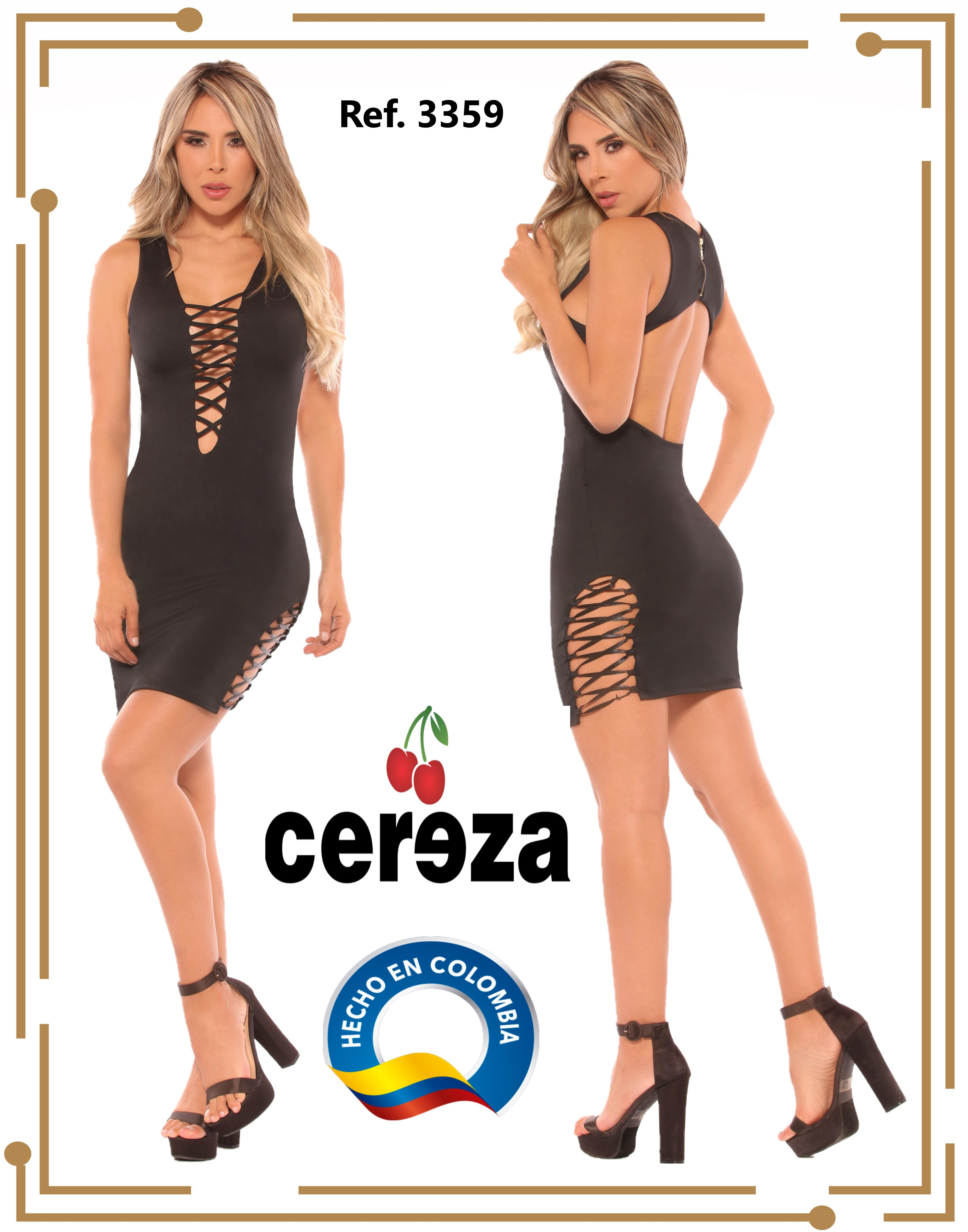 Colombian Dresses With Straps in Bust and Open Back