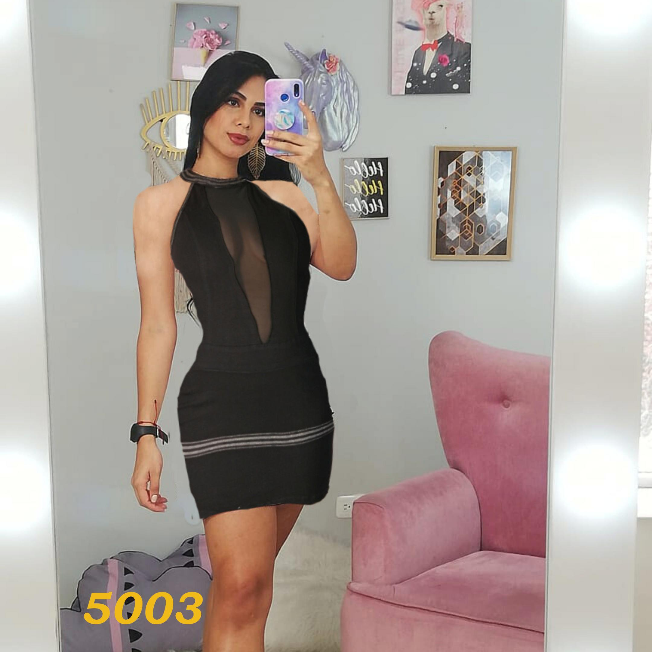 Vestido Sexy Jean Colombiano