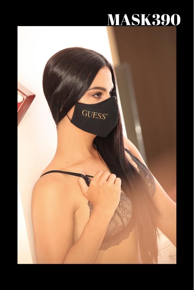 Mascarilla Protección Fashion Guess Negra