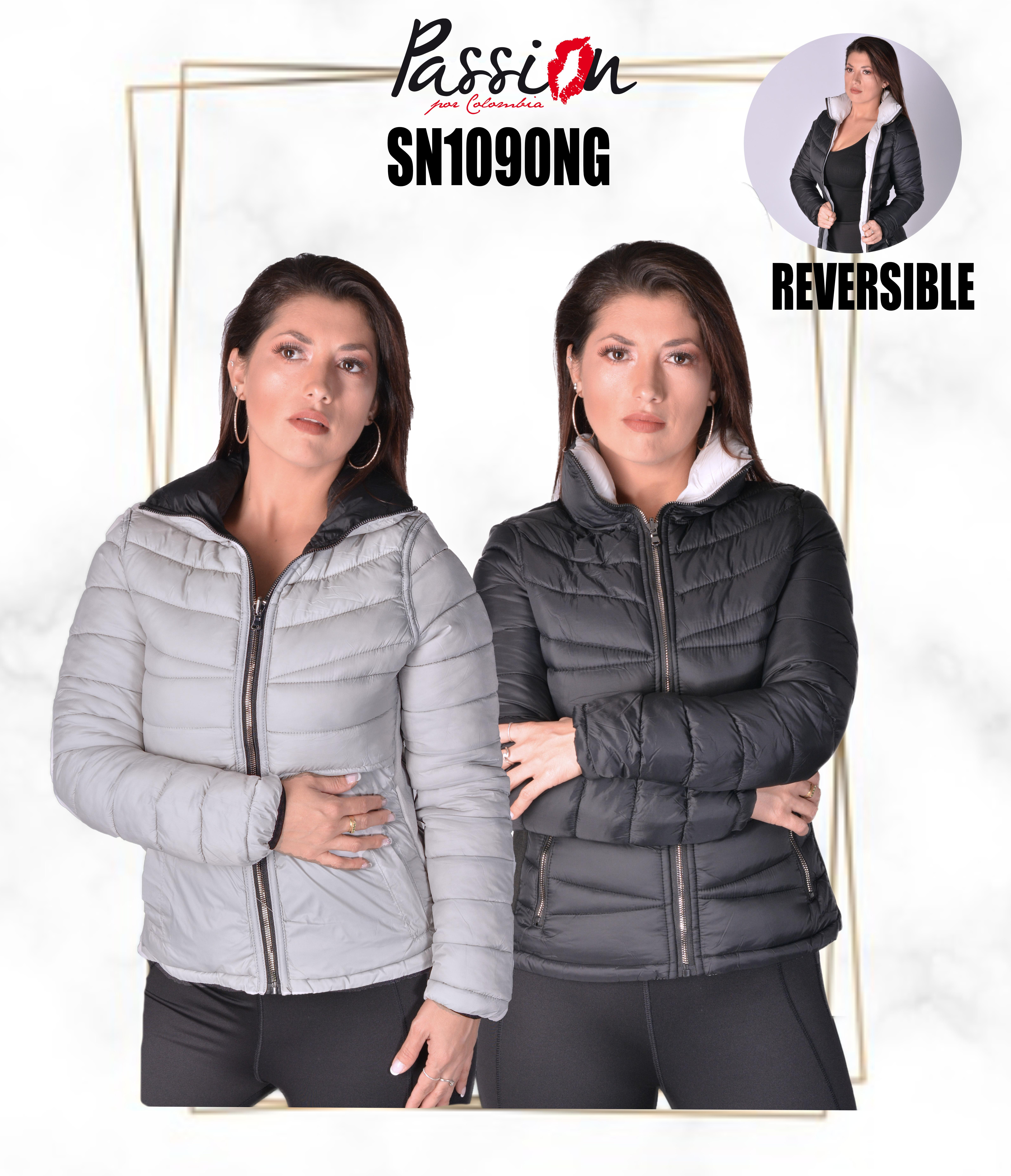 Reversible Jacket, Without Cap With High Neck