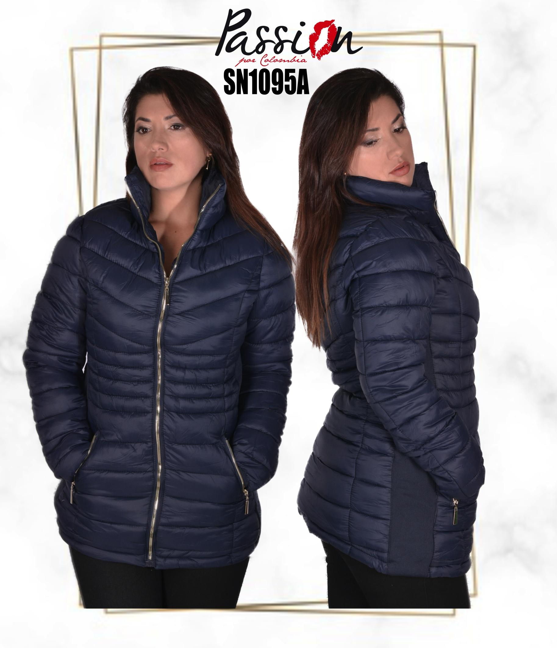 American Turtleneck jacket with front pockets and fashionable style Color Blue