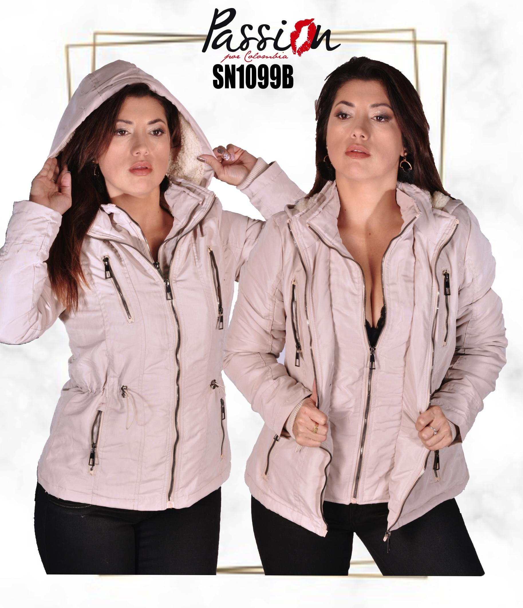 American Fashion jacket with cap and Double Seam Color Beige Fashion