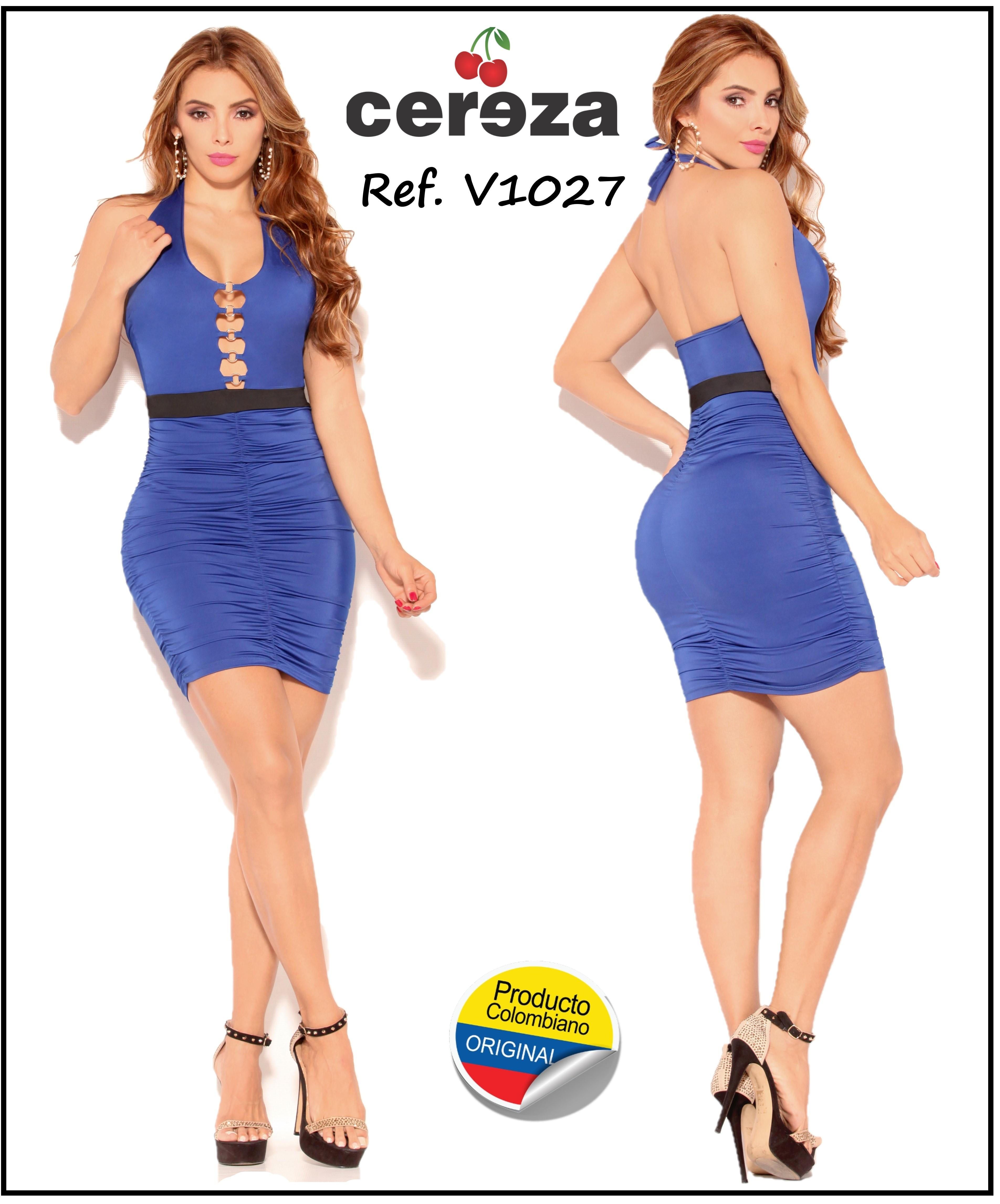 Fantastic Colombian Dress With Beautiful Open Back Design and detail on the neckline. Brand CEREZA