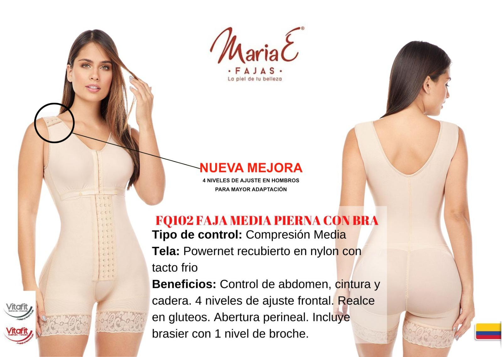 Mid-Leg Girdle with Medium Compression and Bra Included