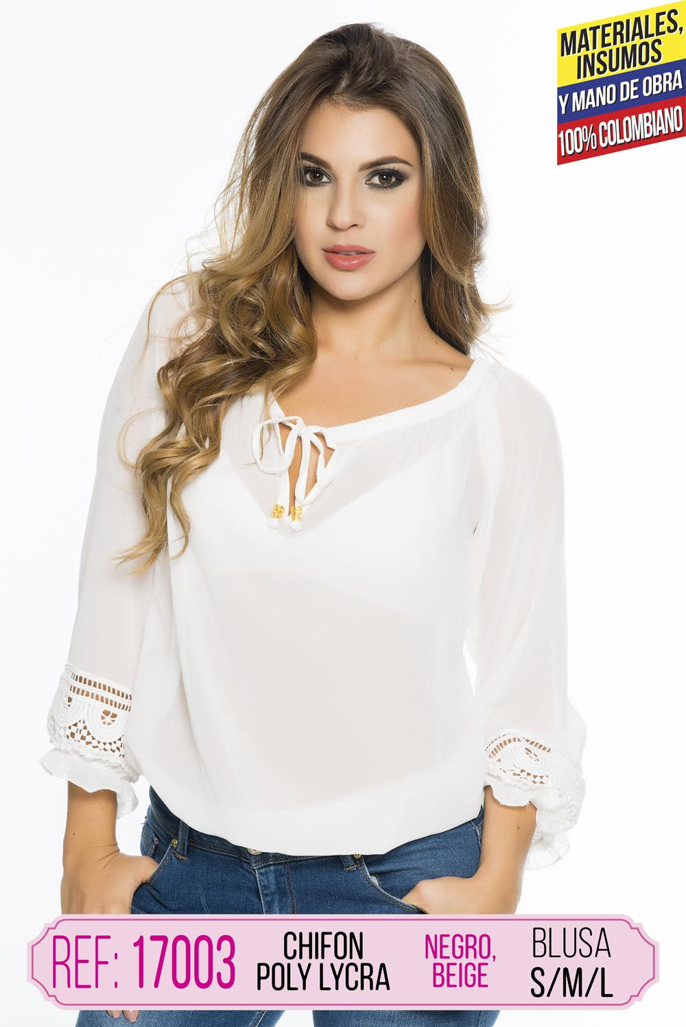 BLUSA COLOMBIANA CEREZA