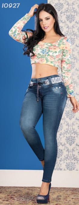 jean colombiano levantacola con bolsillos