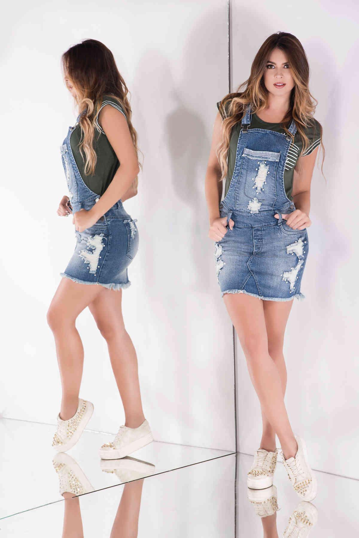 Mono Overol Falda en Jean