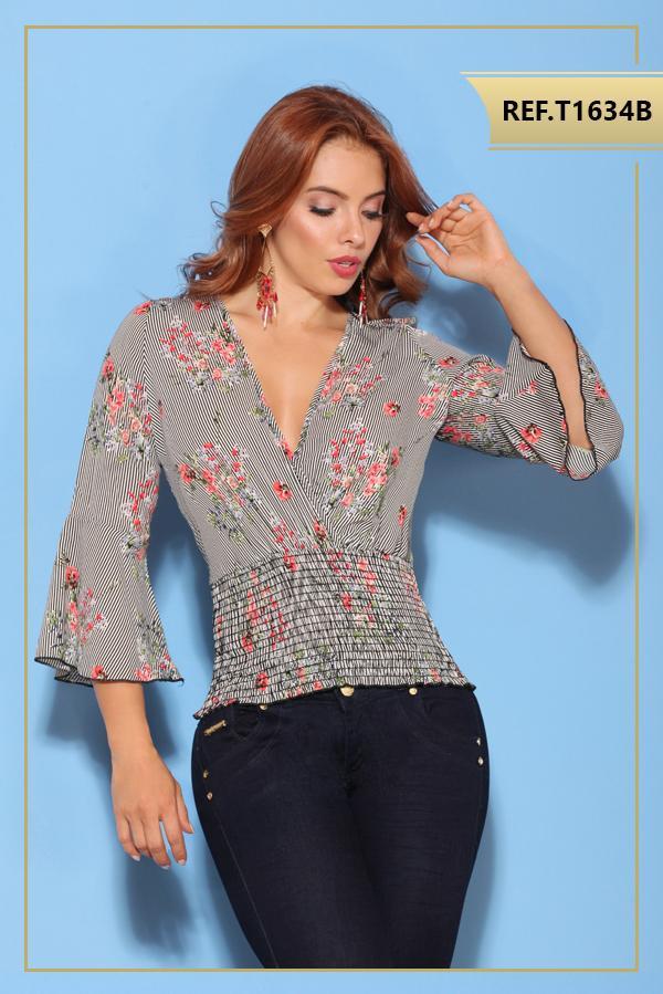 Blusa colombiana manga larga