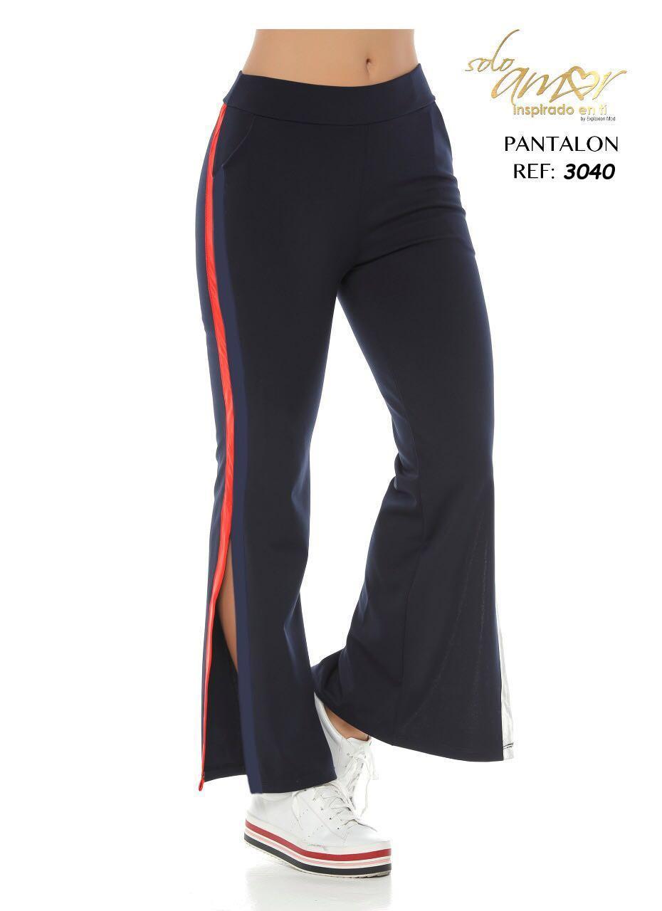 Pantalón de Dama Colombiano con Aplique Lateral