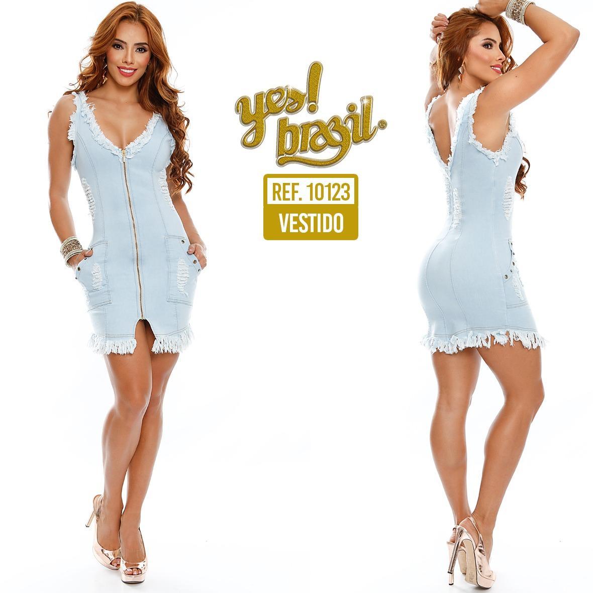 Sexy Vestido en Jean Colombiano