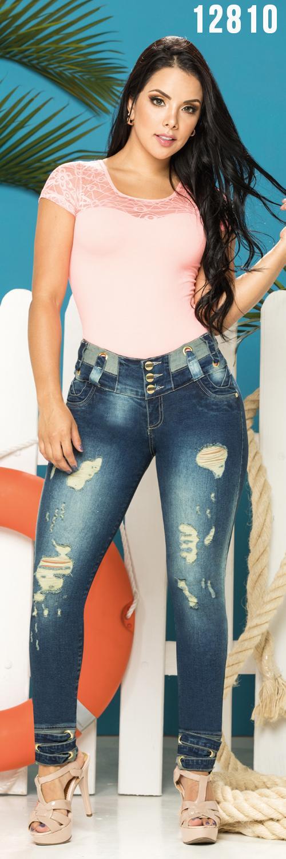 Jeans Sin Bolsillos