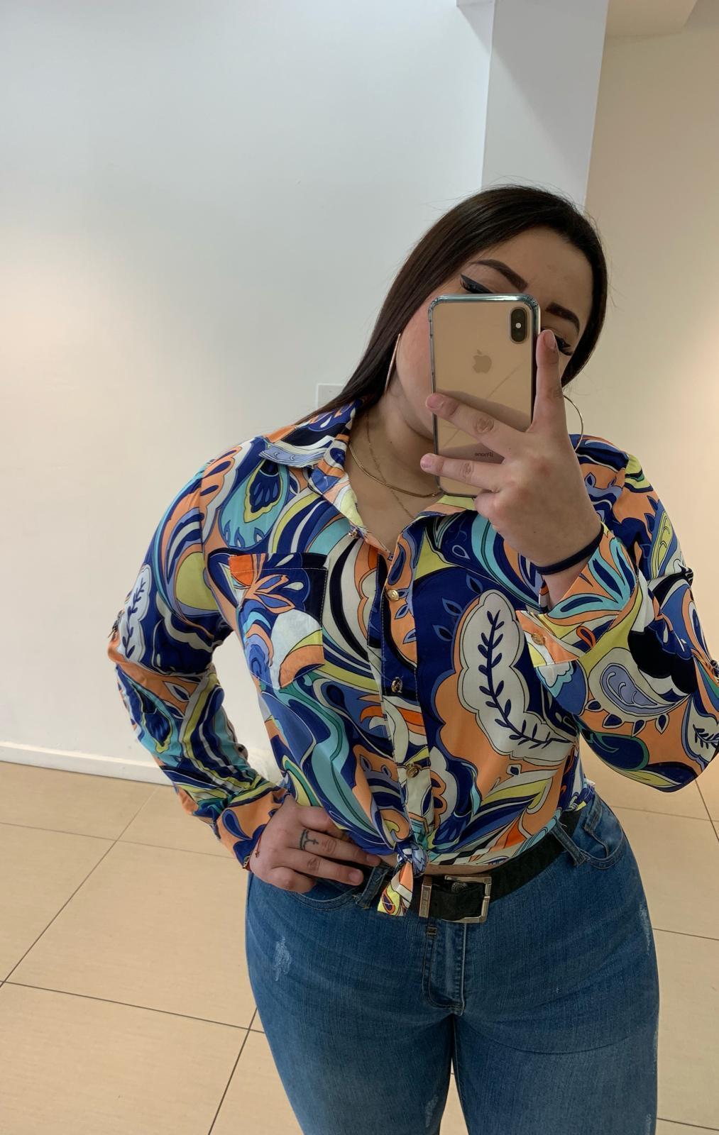 Blusa Americana Estampado Espectacular Talla Especial