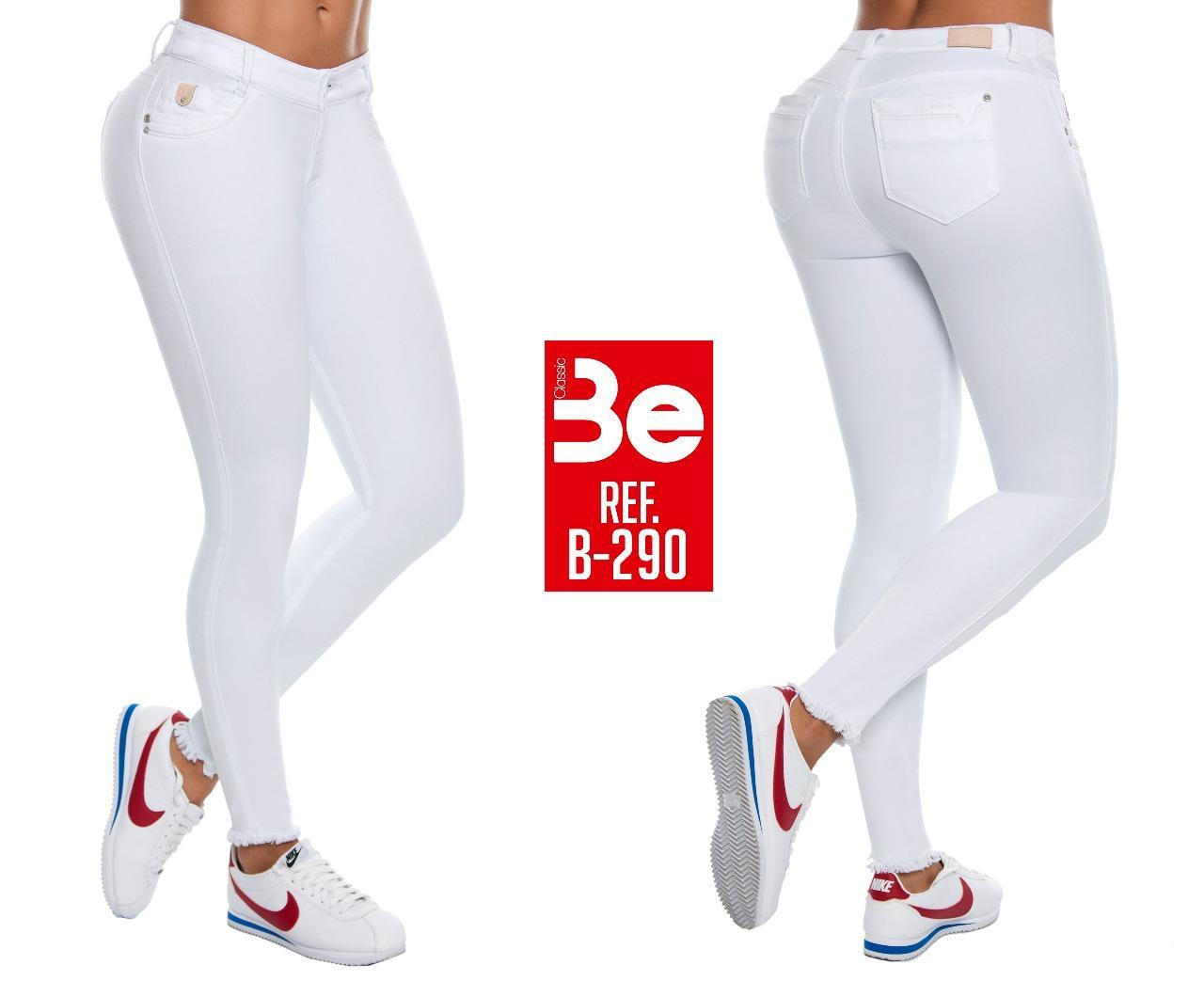 Pantalon Vaquero Color Blanco que levanta y realza