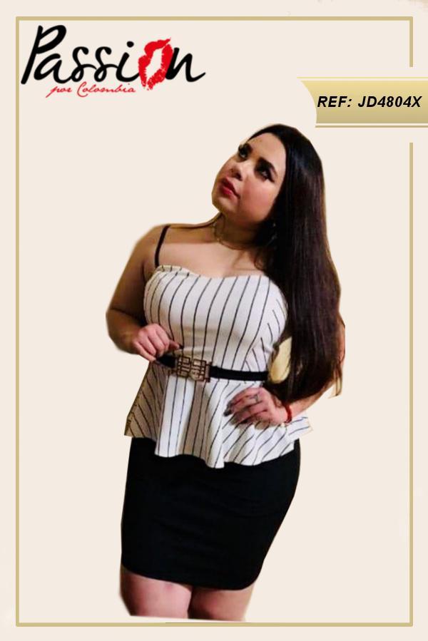 Vestido Corto Americano tallas especiales plus
