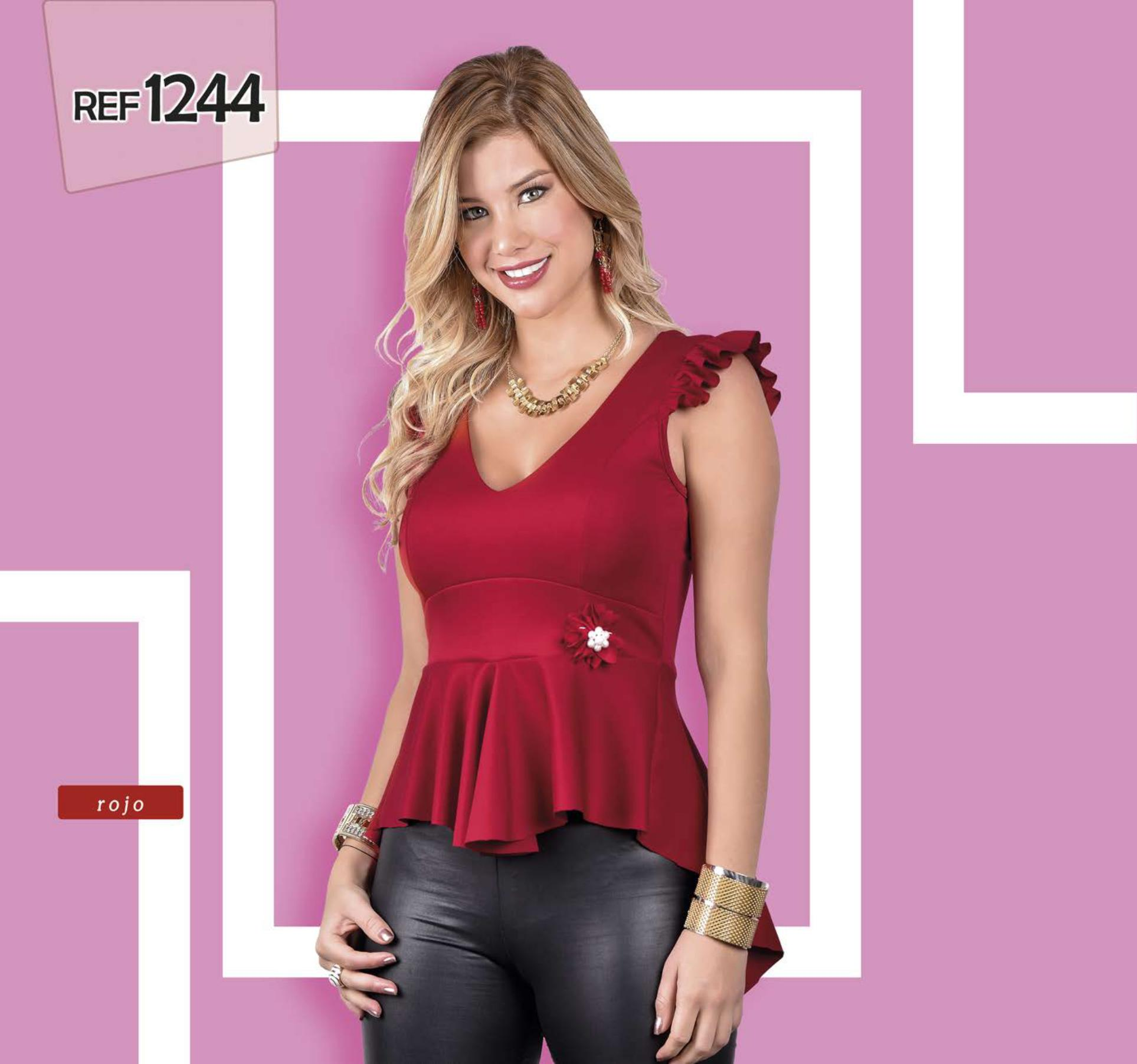 Blusa Colombiana de moda colores de temporada