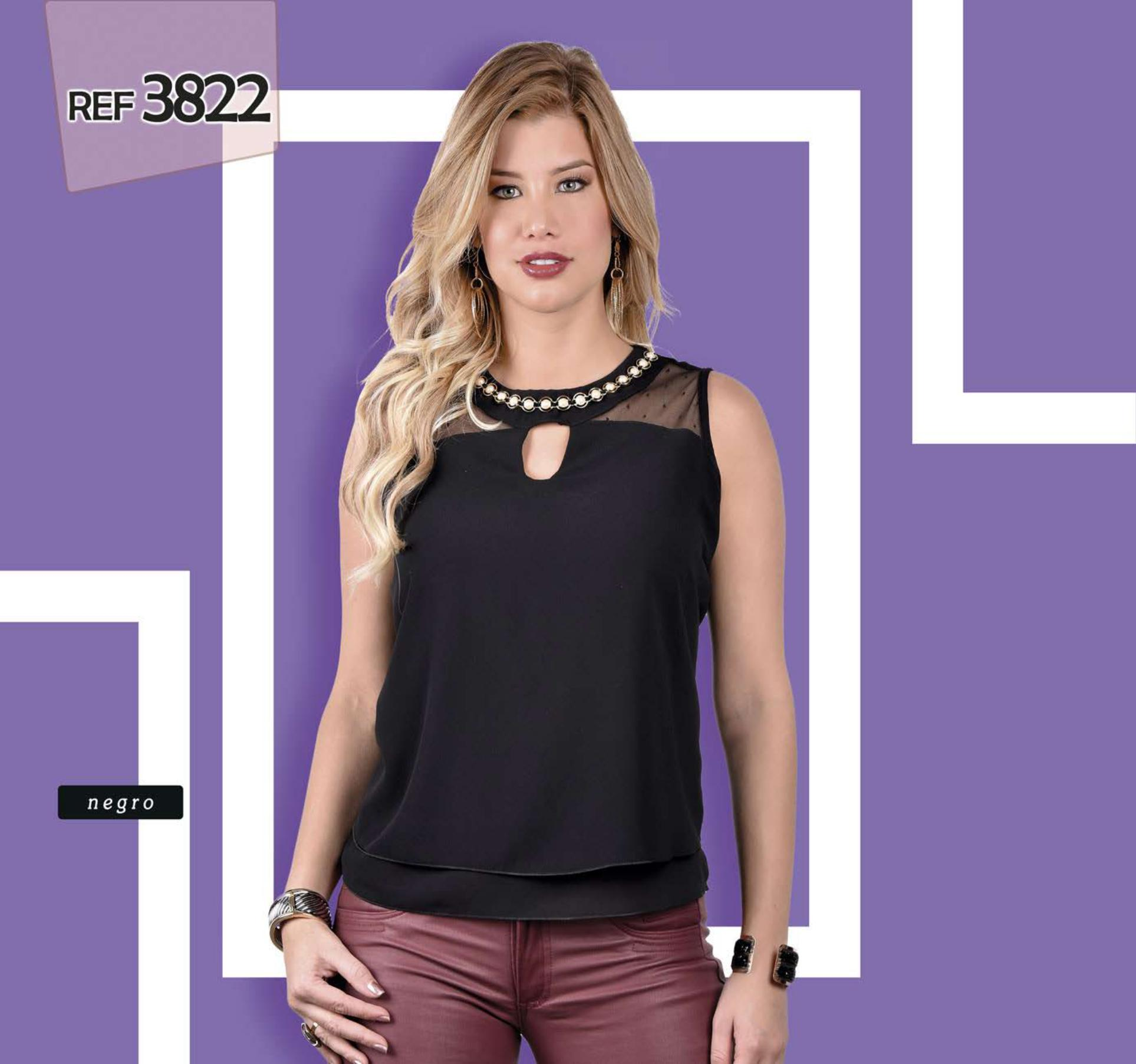Blusa Colombiana de Manga Corta de Moda