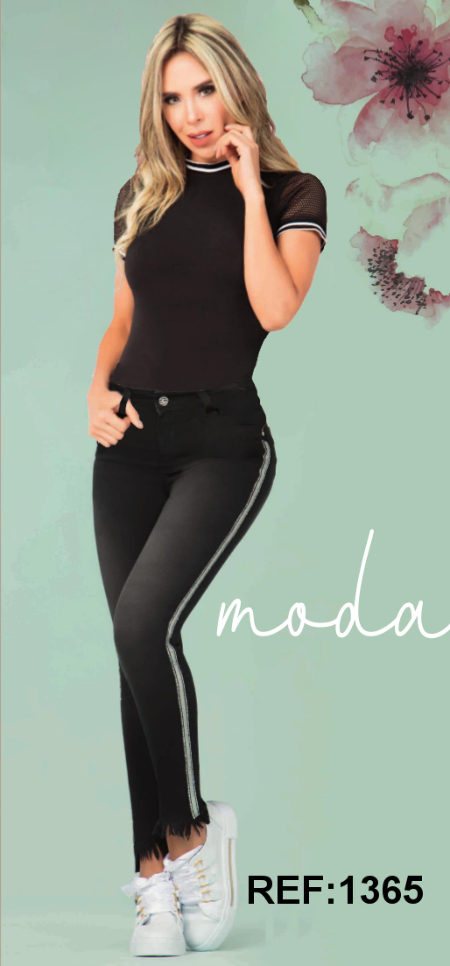 Pantalon Vaquero para Dama, Nueva Coleccion Equilibrio de In You, Jeans Levanta Cola Colombianos