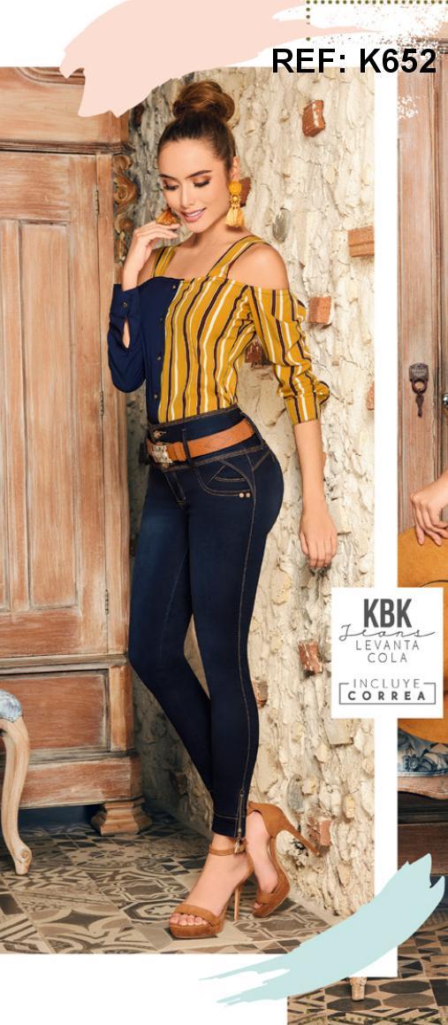 Pantalones Vaqueros Colombianos de Moda con realce de gluteos