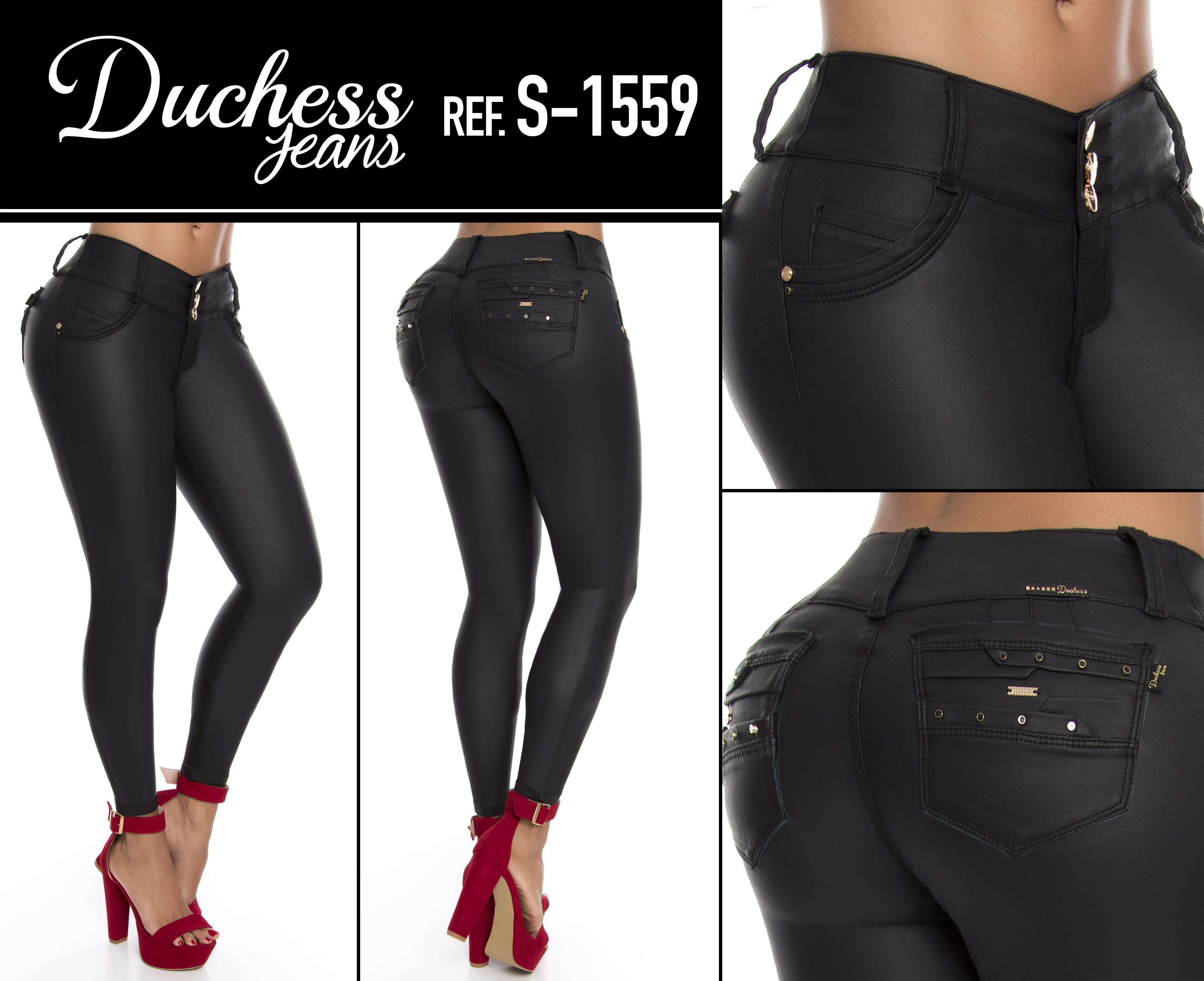 Comprar Pantalon Vaquero Para Dama Estilo Cuero Con Bolsillos Marca Duchess Hecho En Colombia Online