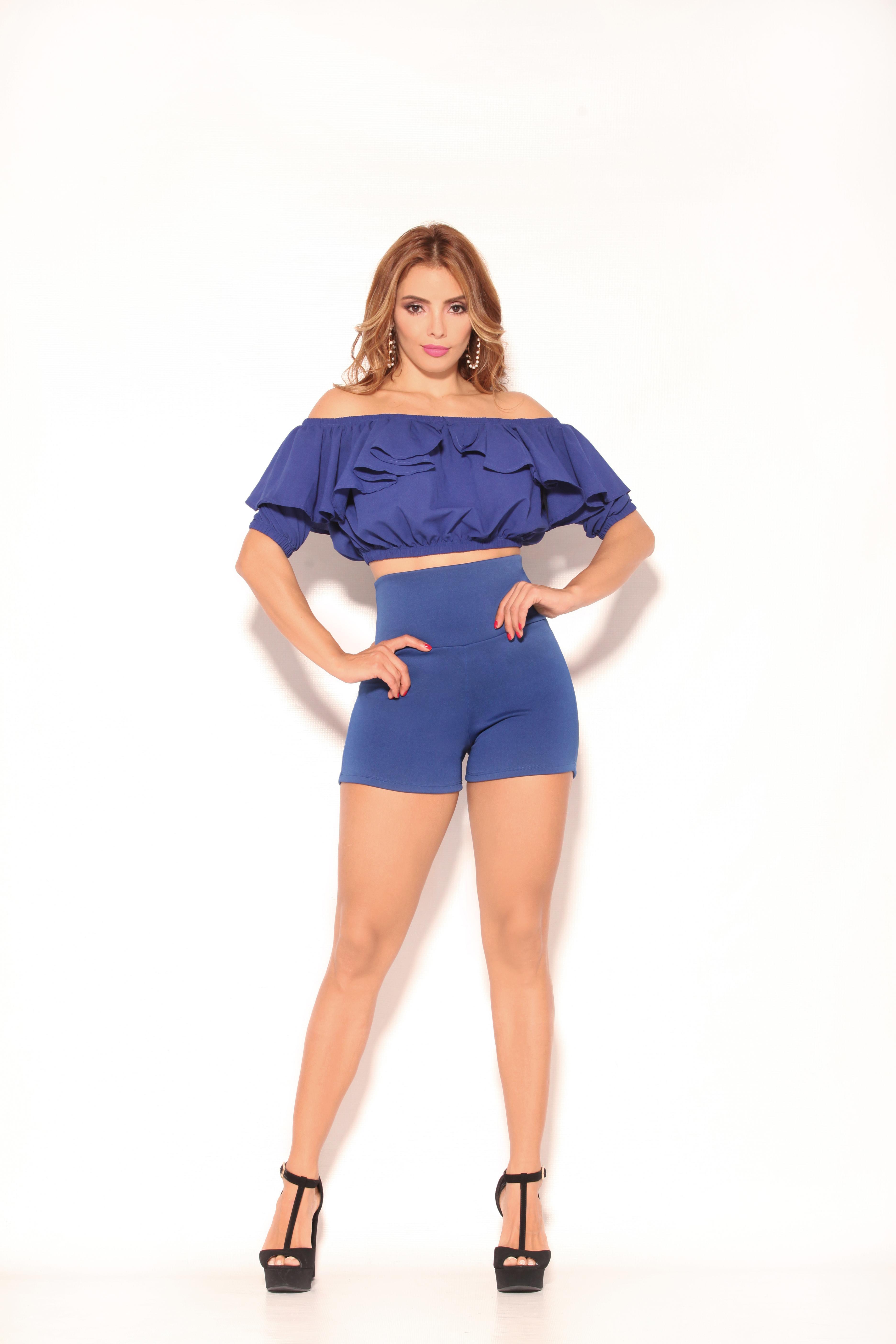 Short y Blusa Colombiana en Conjunto Veraniego Sexy y Elegante marca CEREZA
