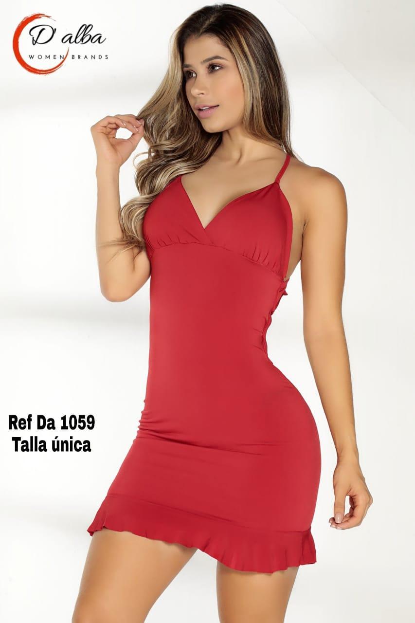 Vestido Rojo De Fiesta Corto Con tiras en la espalda y hermoso Escote de Moda
