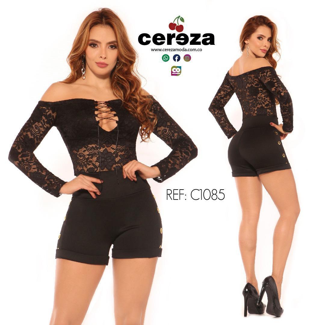 Conjunto Short Sexy Colombiano Marca CEREZA con Diseño Exclusivo de Moda