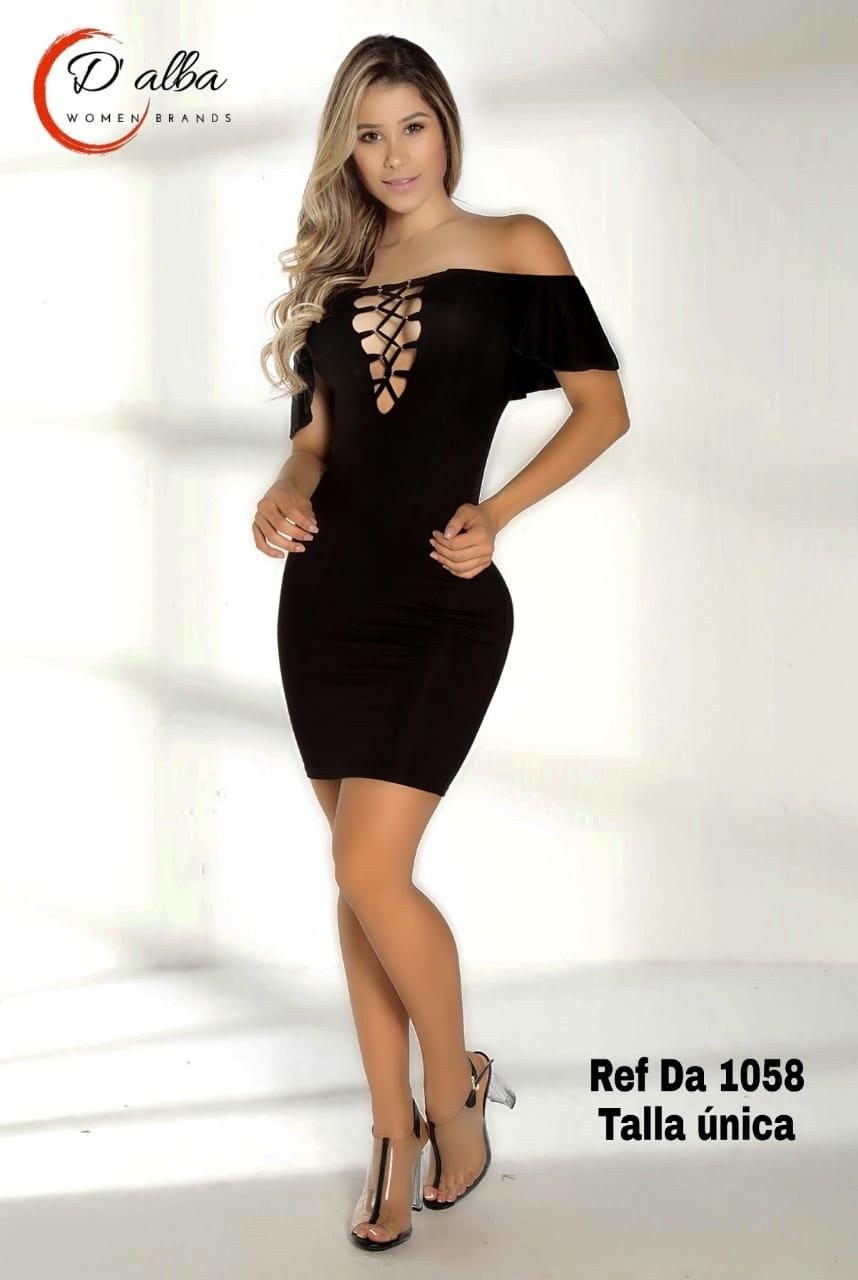 Comprar Vestido Corto De Fiesta Color Negro Marca D Alba Con