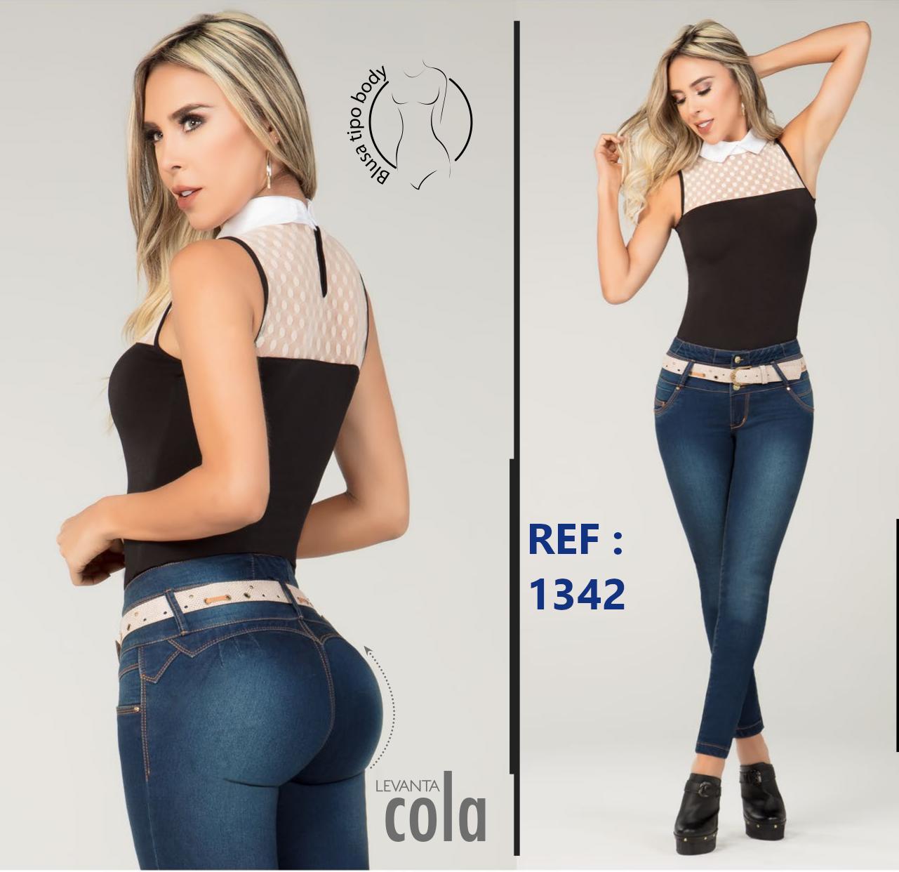 Pantalón Vaquero para Dama con Diseño Exclusivo Levanta Cola Colombiano.