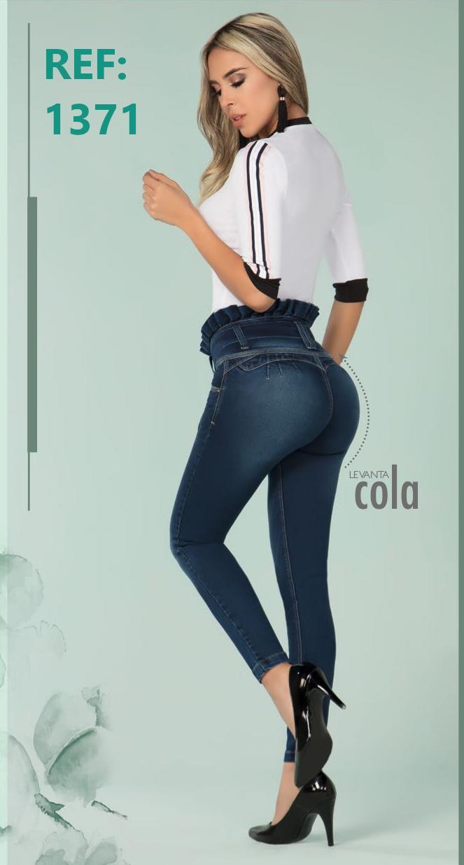 Vaquero De Moda Slim Fit Push Up Colombiano para Dama